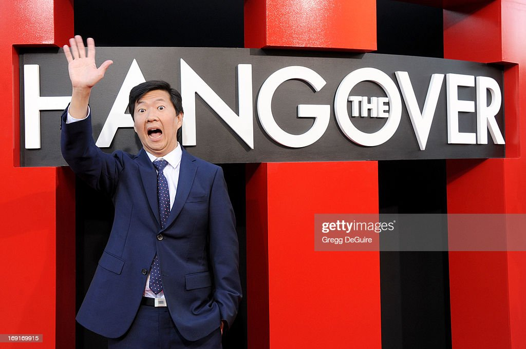 Actor <a gi-track='captionPersonalityLinkClicked' href=/galleries/search?phrase=Ken+Jeong&family=editorial&specificpeople=4195975 ng-click='$event.stopPropagation()'>Ken Jeong</a> arrives at the Los Angeles premiere of 'The Hangover III' at Mann's Village Theatre on May 20, 2013 in Westwood, California.
