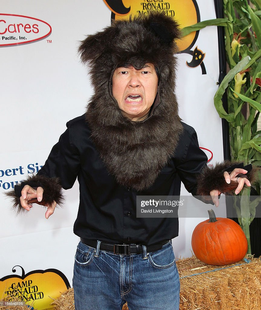 Actor <a gi-track='captionPersonalityLinkClicked' href=/galleries/search?phrase=Ken+Jeong&family=editorial&specificpeople=4195975 ng-click='$event.stopPropagation()'>Ken Jeong</a> attends Camp Ronald McDonald for Good Times 20th Annual Halloween Carnival at the Universal Studios Backlot on October 21, 2012 in Universal City, California.