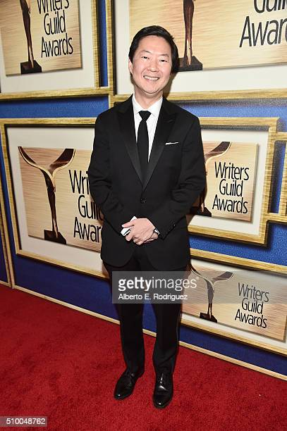 Actor Ken Jeong attends the 2016 Writers Guild Awards at the Hyatt Regency Century Plaza on February 13 2016 in Los Angeles California