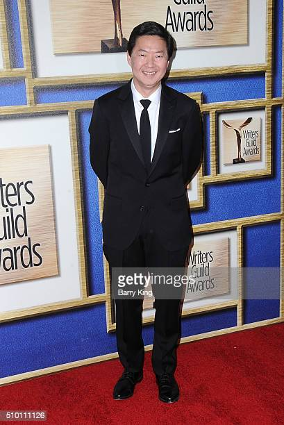 Actor Ken Jeong attends the 2016 Writers Guild Awards LA Ceremony at the Hyatt Regency Century Plaza on February 13 2016 in Los Angeles California