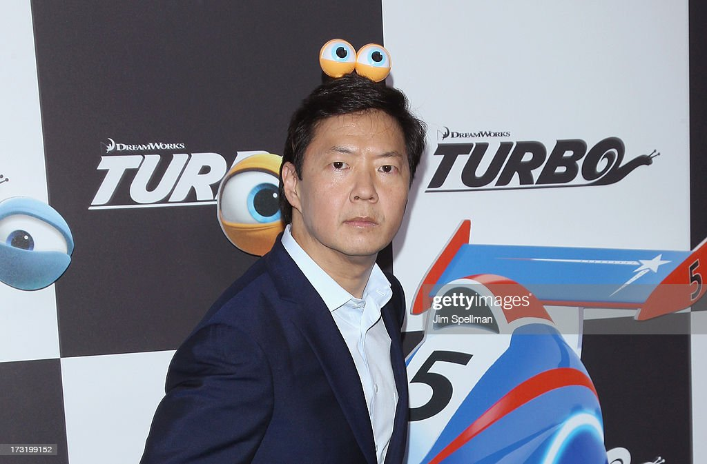 Actor <a gi-track='captionPersonalityLinkClicked' href=/galleries/search?phrase=Ken+Jeong&family=editorial&specificpeople=4195975 ng-click='$event.stopPropagation()'>Ken Jeong</a> attends the 'Turbo' New York Premiere at AMC Loews Lincoln Square on July 9, 2013 in New York City.