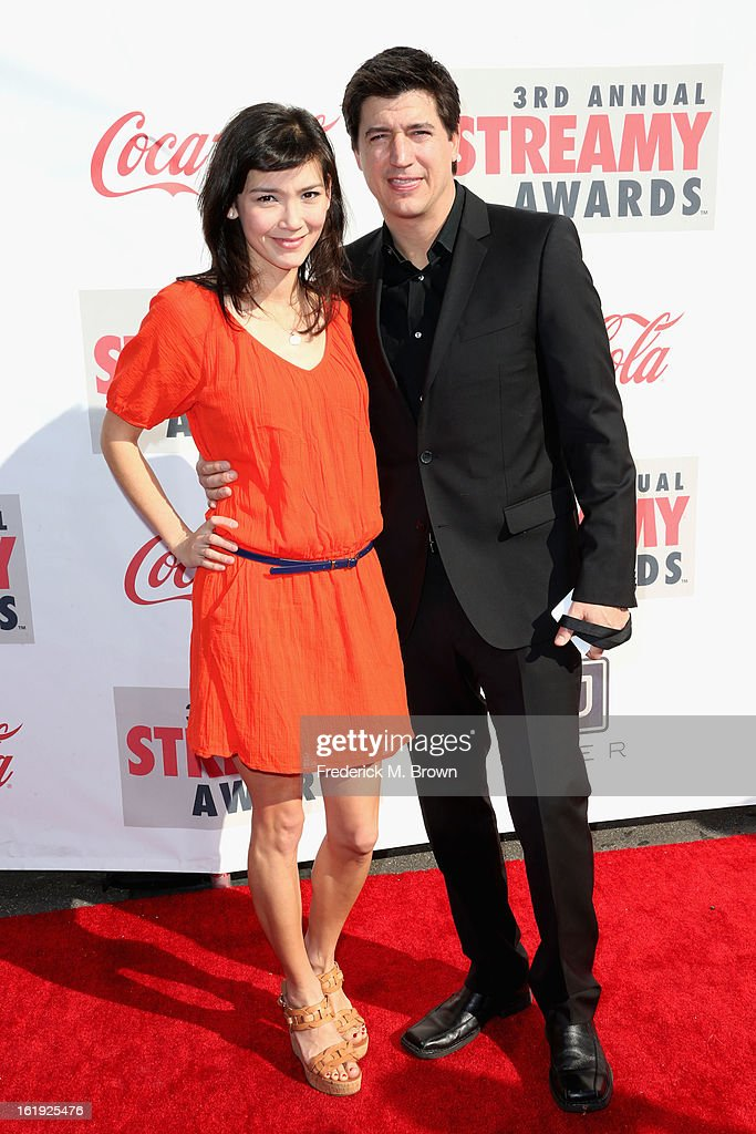 Actor Ken Marino (R) and Erica Oyama attend the 3rd Annual Streamy Awards at Hollywood Palladium on February 17, 2013 in Hollywood, California.