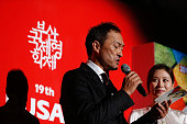 Actor Ken Watanabe and actress Moon SoRi attend the opening ceremony of the 19th Busan International Film Festival at the Busan Cinema Center on...