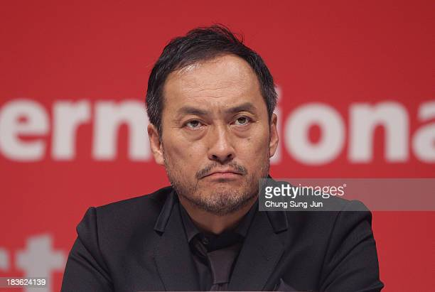 Actor Ken Watanabe atend the Open Talk 'Unforgiven' at the BIFF Hill during 18th Busan International Film Festival on October 8 2013 in Busan South...