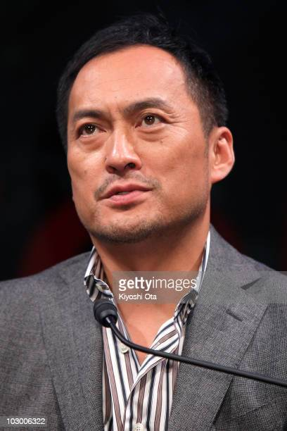 Actor Ken Watanabe attends the 'Inception' press conference at the RitzCarlton Tokyo on July 21 2010 in Tokyo Japan The film will open in Japan on...