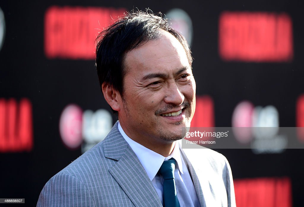Actor <a gi-track='captionPersonalityLinkClicked' href=/galleries/search?phrase=Ken+Watanabe&family=editorial&specificpeople=214016 ng-click='$event.stopPropagation()'>Ken Watanabe</a> attends the premiere of Warner Bros. Pictures and Legendary Pictures' 'Godzilla' at Dolby Theatre on May 8, 2014 in Hollywood, California.