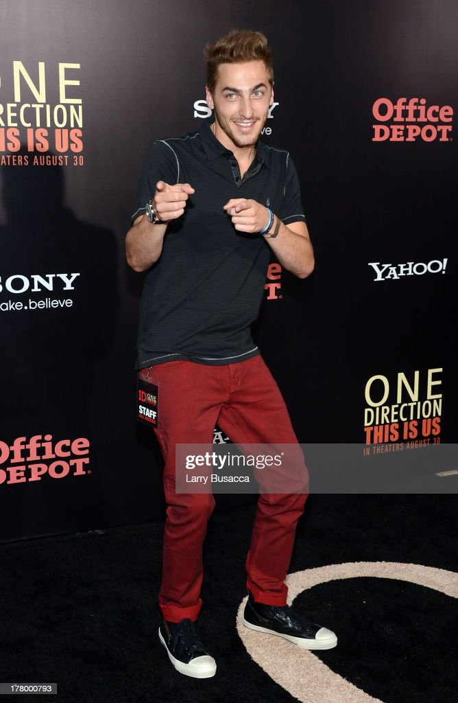 Actor Kendall Schmidt attends the New York premiere of 'One Direction: This Is Us' at the Ziegfeld Theater on August 26, 2013 in New York City.