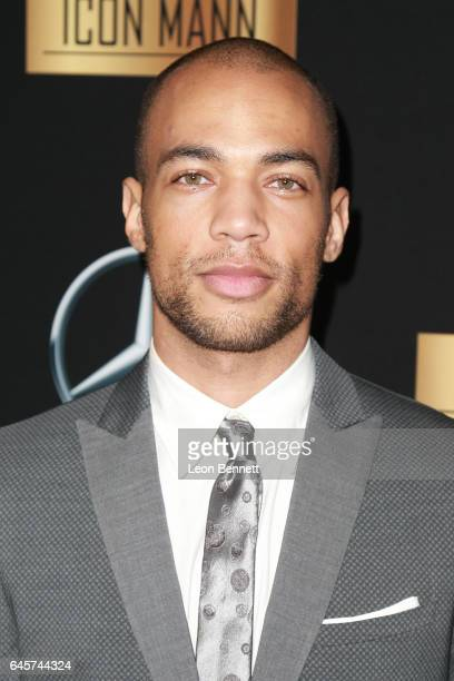 Actor Kendrick Sampson arrives at the MercedesBenz x ICON MANN 2017 Academy Awards Viewing Party at Four Seasons Hotel Los Angeles at Beverly Hills...