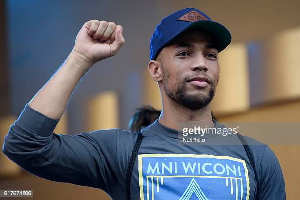 Actor Kendrick Sampson attends Climate Revolution Rally in Los Angeles California October 23 2016 The rally is part of a series of Climate Revolution...