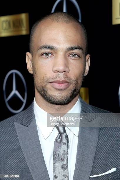 Actor Kendrick Sampson attends the Annual MercedesBenz ICON MANN 2017 Awards viewing party at Four Seasons Hotel Los Angeles at Beverly Hills on...