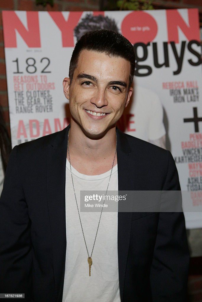 Actor Kenji Fitzgerald attends NYLON Guys and ASOS celebrate April/May cover star Adam Levine at Dominick's Restaurant on April 25, 2013 in Los Angeles, California.