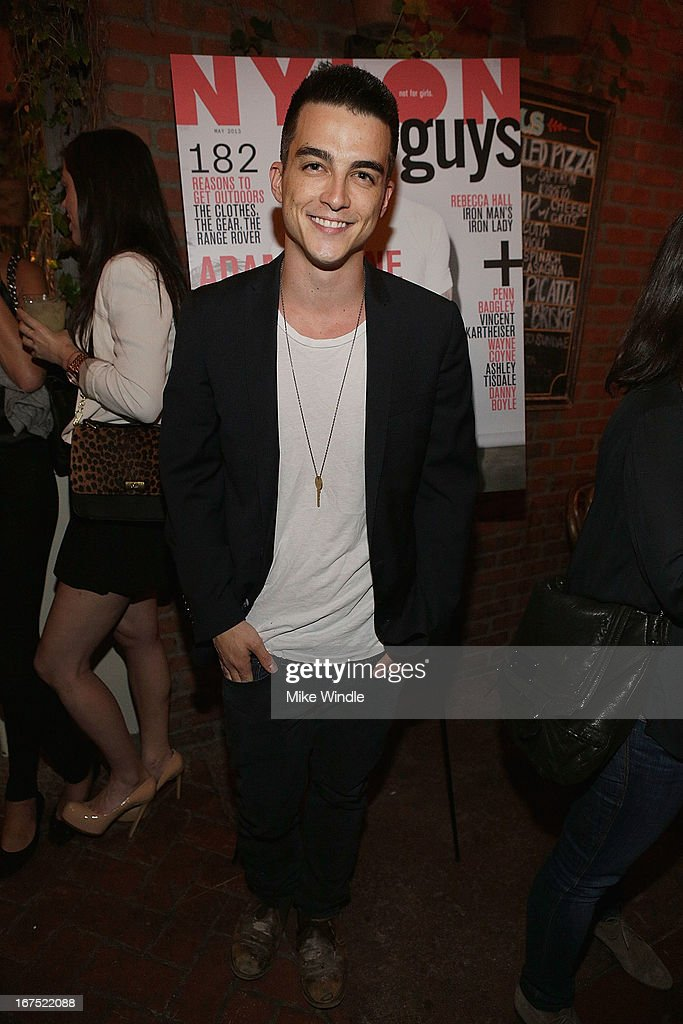 Actor Kenji Fitzgerald attends NYLON Guys and ASOS celebrate April/May cover star <a gi-track='captionPersonalityLinkClicked' href=/galleries/search?phrase=Adam+Levine+-+Singer&family=editorial&specificpeople=202962 ng-click='$event.stopPropagation()'>Adam Levine</a> at Dominick's Restaurant on April 25, 2013 in Los Angeles, California.
