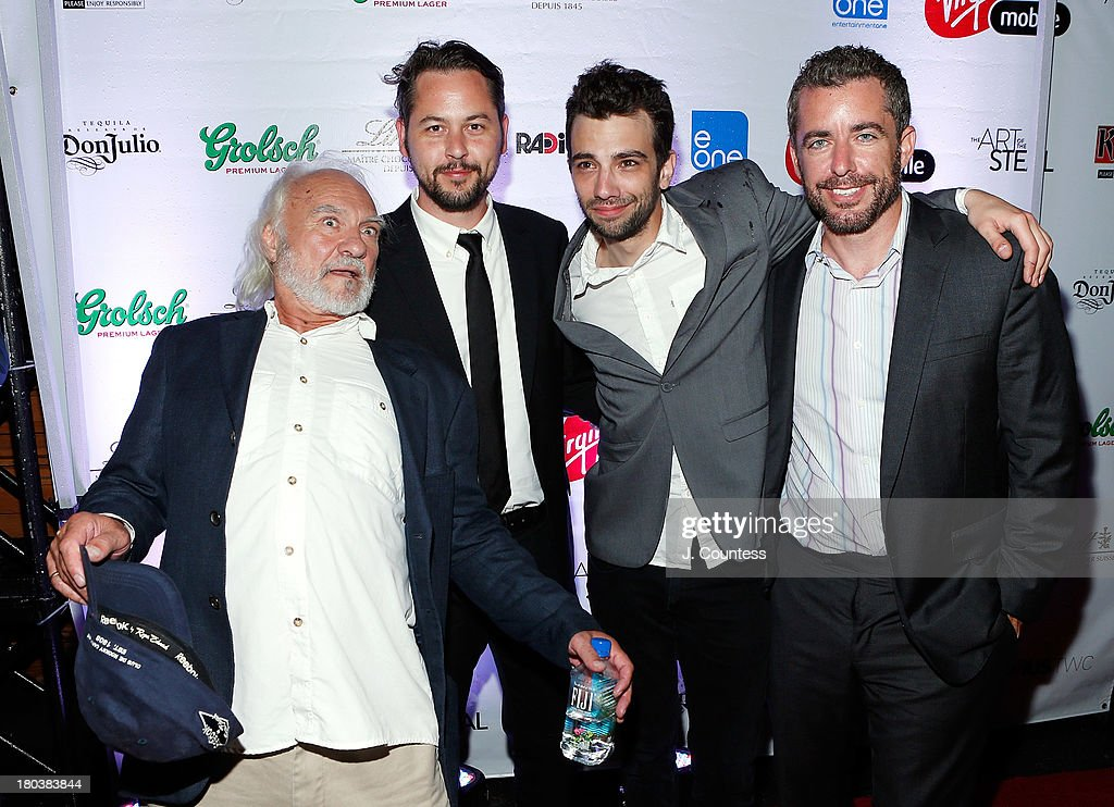 Actor Kenneth Welsh, director Jonathan Sobol, actor <a gi-track='captionPersonalityLinkClicked' href=/galleries/search?phrase=Jay+Baruchel&family=editorial&specificpeople=662285 ng-click='$event.stopPropagation()'>Jay Baruchel</a> and Jason Jones attend the Virgin Mobile Arts & Cinema Centre - 'The Art Of The Steal' After Party at F-Stop on September 11, 2013 in Toronto, Canada.