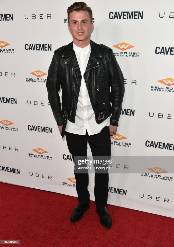 Actor Kenny Wormland arrives to the premiere of 'Cavemen' at the ArcLight Cinemas on February 5, 2014 in Hollywood, California.