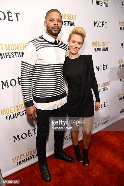 Actor Kerry Rhodes and actress Nicky Whelan attend Moet Chandon Celebrates The 2nd Annual Moet Moment Film Festival and Kicks off Golden Globes Week...