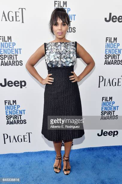 Actor Kerry Washington attends the 2017 Film Independent Spirit Awards at the Santa Monica Pier on February 25 2017 in Santa Monica California