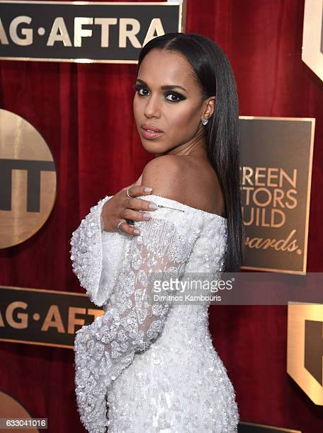 Actor Kerry Washington attends The 23rd Annual Screen Actors Guild Awards at The Shrine Auditorium on January 29 2017 in Los Angeles California...