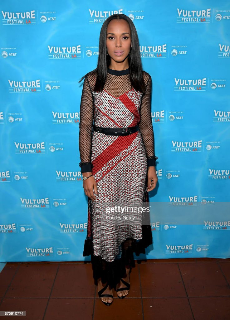 Actor Kerry Washington attends the 'Scandal: The Final Season' panel during Vulture Festival LA Presented by AT&T at Hollywood Roosevelt Hotel on November 18, 2017 in Hollywood, California.