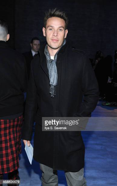 Actor Kevin Alejandro attends the Skingraft fashion show during MercedesBenz Fashion Week Fall 2014 at The Pavilion at Lincoln Center on February 11...
