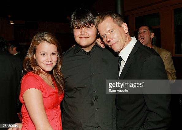 Actor Kevin Bacon and children...
