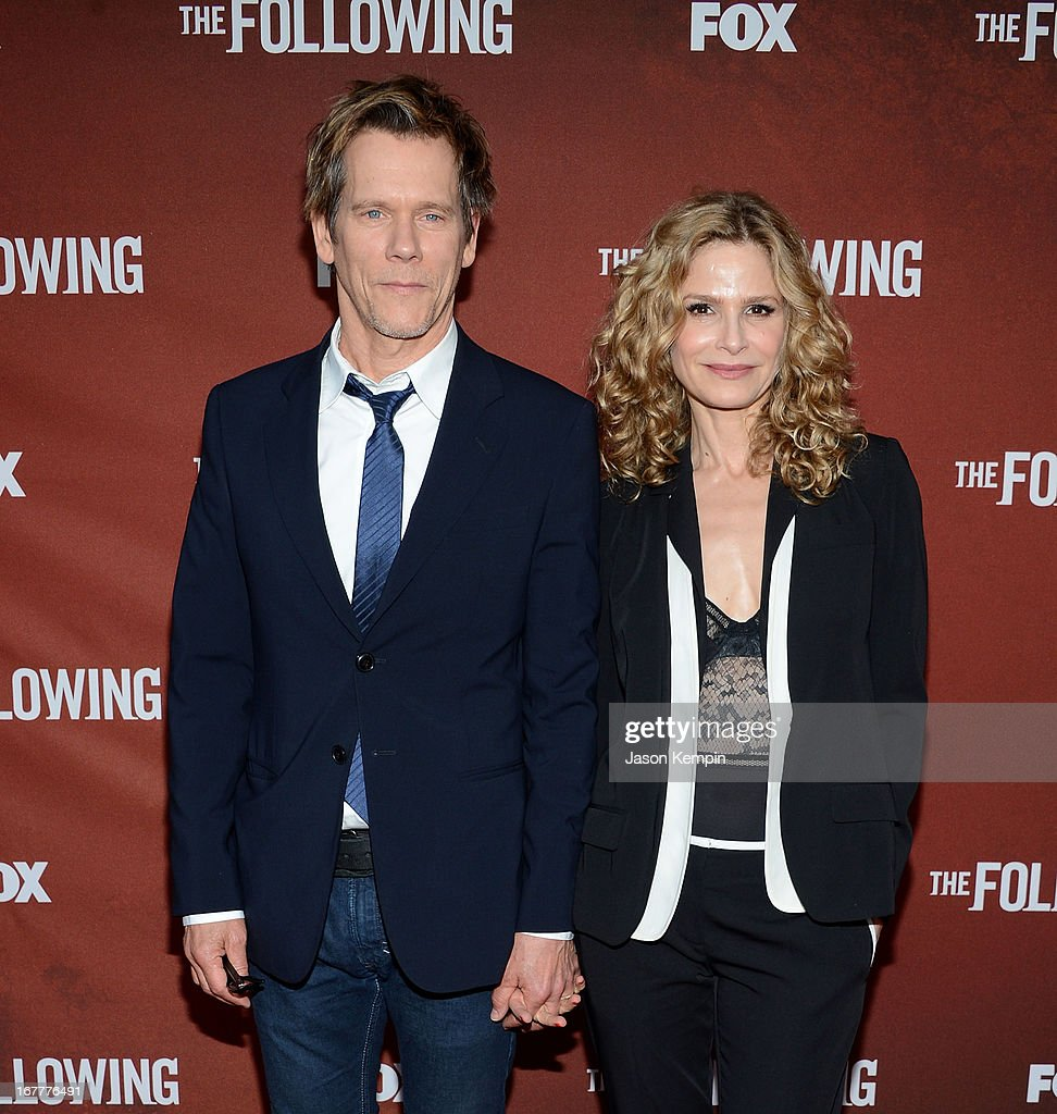 Actor <a gi-track='captionPersonalityLinkClicked' href=/galleries/search?phrase=Kevin+Bacon&family=editorial&specificpeople=202000 ng-click='$event.stopPropagation()'>Kevin Bacon</a> and wife <a gi-track='captionPersonalityLinkClicked' href=/galleries/search?phrase=Kyra+Sedgwick&family=editorial&specificpeople=202514 ng-click='$event.stopPropagation()'>Kyra Sedgwick</a> attend the screening of Fox's 'The Following' at Leonard H. Goldenson Theatre on April 29, 2013 in North Hollywood, California.