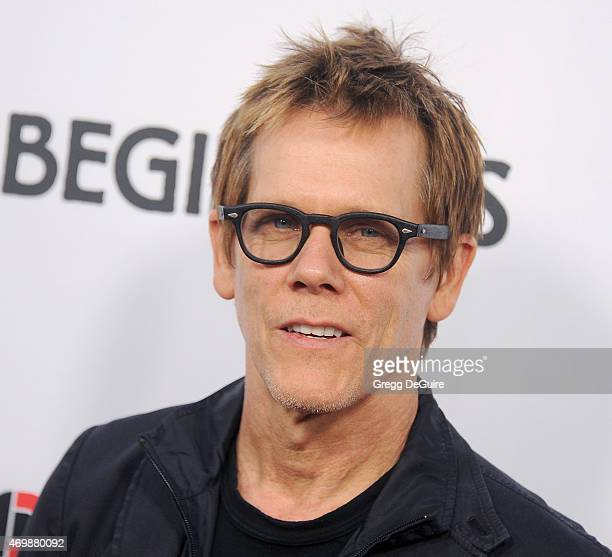 Actor Kevin Bacon arrives at the Los Angeles premiere of 'Adult Beginners' at ArcLight Hollywood on April 15 2015 in Hollywood California