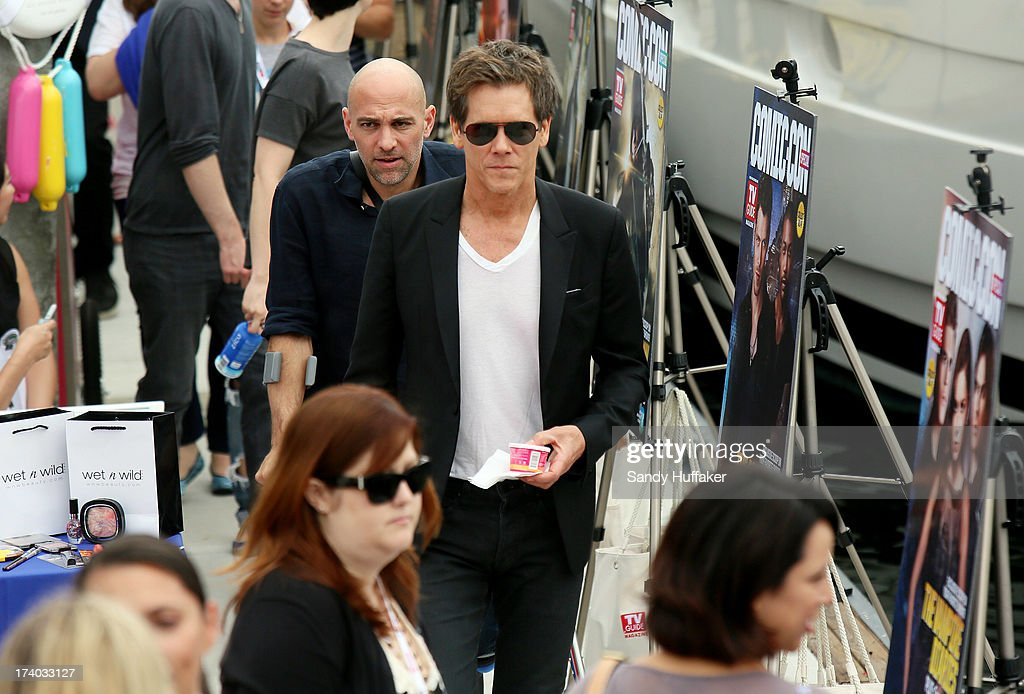 Actor <a gi-track='captionPersonalityLinkClicked' href=/galleries/search?phrase=Kevin+Bacon&family=editorial&specificpeople=202000 ng-click='$event.stopPropagation()'>Kevin Bacon</a> attends Comic Con on July 19, 2013 in San Diego, California. The Comic Con International Convention is the world's largest comic and entertainment event and hosts celebrity movie panels, a trade floor with comic book, science fiction and action film-related booths, as well as artist workshops and movie premieres.
