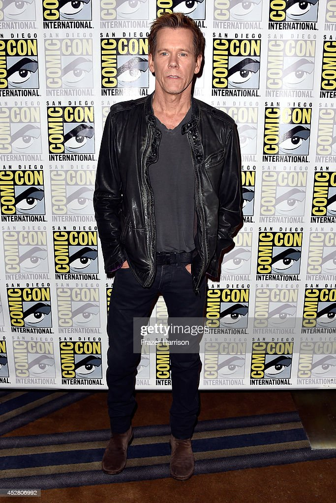 Actor Kevin Bacon attends FOX's 'The Following' press line during Comic-Con International 2014 at Hilton Bayfront on July 27, 2014 in San Diego, California.
