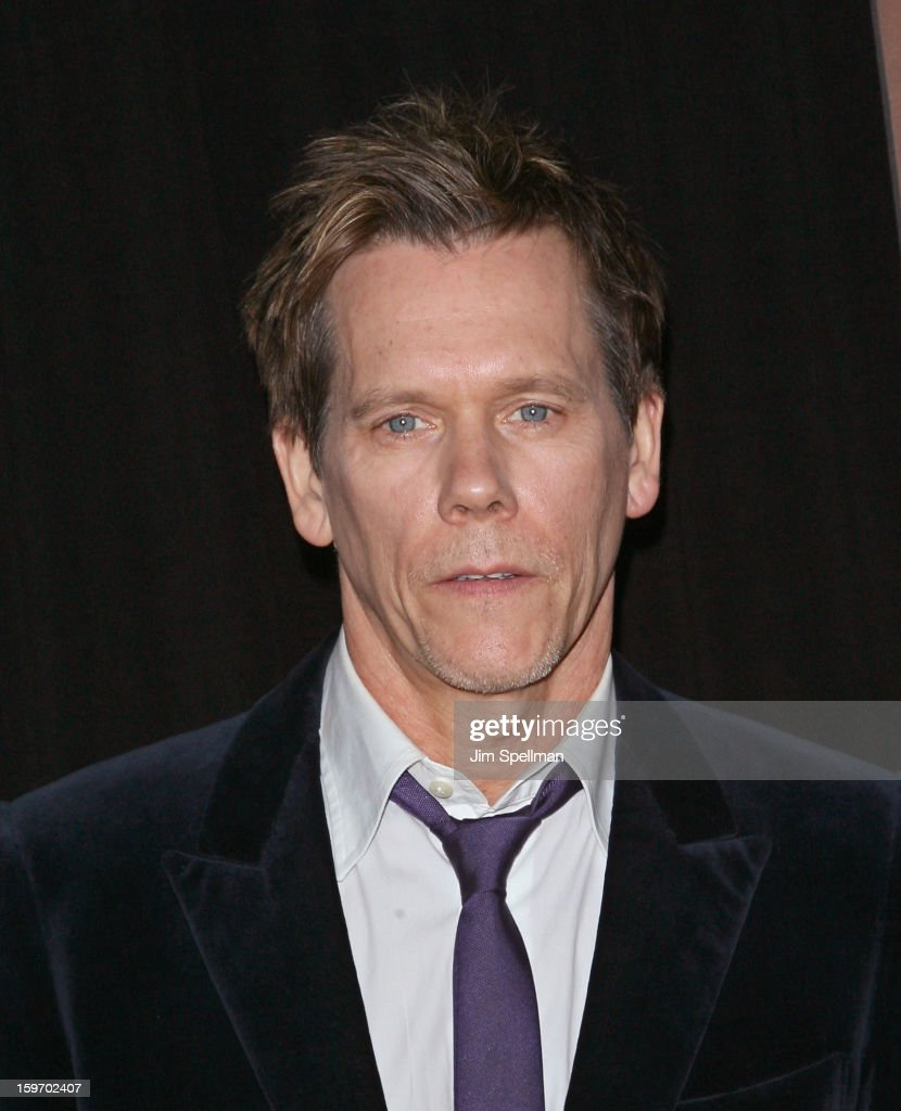 Actor Kevin Bacon attends 'The Following' New York Premiere at New York Public Library - Astor Hall on January 18, 2013 in New York City.