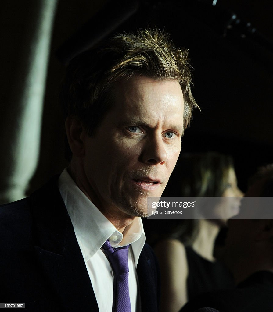 Actor Kevin Bacon attends 'The Following' World Premiere at The New York Public Library on January 18, 2013 in New York City.