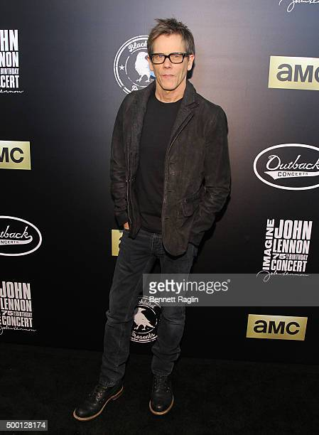 Actor Kevin Bacon attends the Imagine John Lennon 75th Birthday Concert at Madison Square Garden on December 5 2015 in New York City
