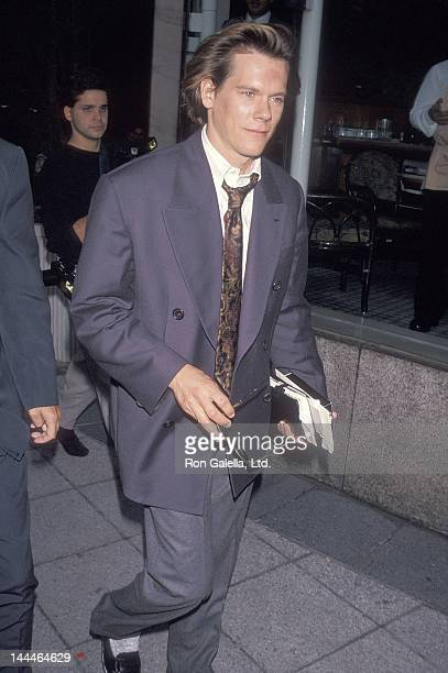 Actor Kevin Bacon attends the New York Friars' Club Celebrity Luncheon Salute to Chevy Chase on October 17 1990 at the Sheraton Centre Hotel in New...