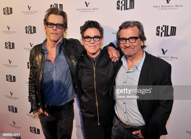 Actor Kevin Bacon Director Sarah Gubbins and Actor Griffin Dunne attend the 60th SFFILM Festival Red Carpet Screening of 'I Love Dick' at Alamo...