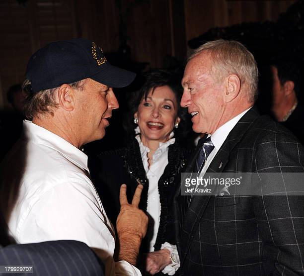 Actor Kevin Costne and Dallas Cowboys owner Jerry Jones attend the 3rd Annual Saturday Night Spectacular hosted by Kevin Costner and Michael Strahan...