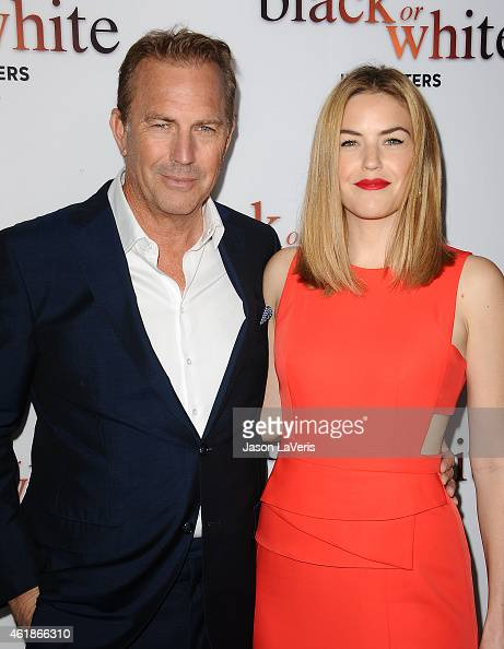 Actor Kevin Costner and actress Lily Costner attend the premiere of 'Black or White' at Regal Cinemas LA Live on January 20 2015 in Los Angeles...