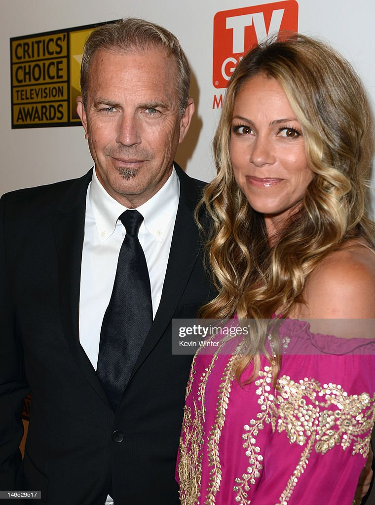 Actor Kevin Costner and Christine Baumgartner arrive at Broadcast Television Journalists Association Second Annual Critics' Choice Awards at The...
