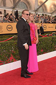 Actor Kevin Costner and Christine Baumgartner attend TNT's 21st Annual Screen Actors Guild Awards at The Shrine Auditorium on January 25 2015 in Los...