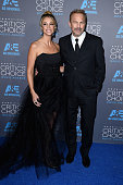 Actor Kevin Costner and model Christine Baumgartner attend the 20th annual Critics' Choice Movie Awards at the Hollywood Palladium on January 15 2015...