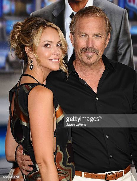 Actor Kevin Costner and wife Christine Baumgartner attend the premiere of 'Draft Day' at Regency Bruin Theatre on April 7 2014 in Los Angeles...