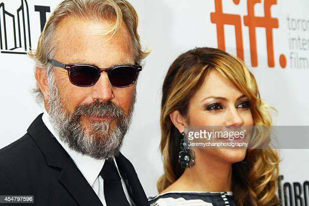 Actor Kevin Costner and wife Christine Costner arrive at the 'Black And White' Premiere during the 2014 Toronto International Film Festival held at...