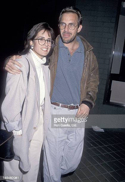 Actor Kevin Costner and wife Cindy Costner attend a performance of the play 'Hurlyburly' on January 13 1989 at the Westwood Playhouse in Westwood...