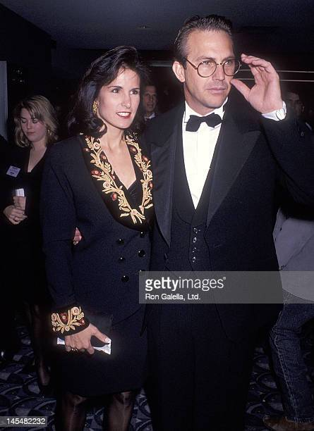 Actor Kevin Costner and wife Cindy Costner attend the 'Dances with Wolves' Century City Premiere on November 4 1990 at the Cineplex Odeon Century...