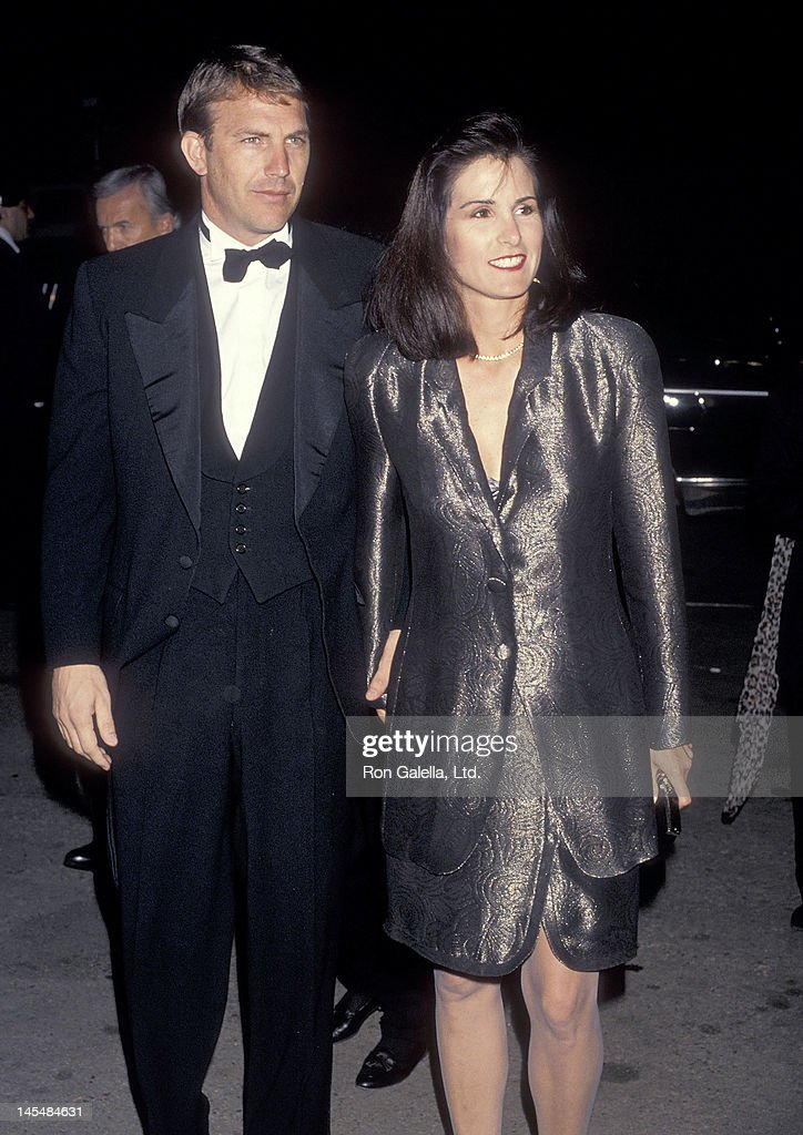 Actor Kevin Costner and wife Cindy Costner attend The Movie Awards on January 30, 1991 at Universal Amphitheatre in Universal City, California.