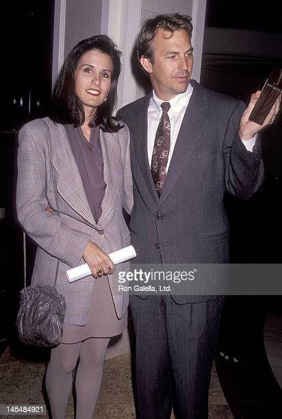 Actor Kevin Costner and wife Cindy Costner attend the Second Annual Producers Guild of America Golden Laurel Awards on March 5 1991 at the Regent...