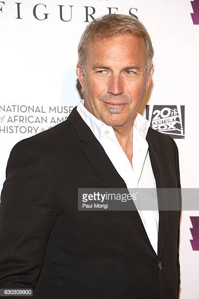 Actor Kevin Costner arrives at the 'Hidden Figures' Washington DC Screening at National Museum of African American History Culture on December 14...