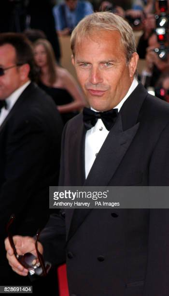 Actor Kevin Costner arriving for the premiere of The Matrix Reloaded at the Palais des Festival in Cannes