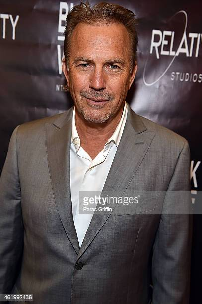 Actor Kevin Costner attends 'Black or White' red carpet screening at Regal Atlantic Station on January 22 2015 in Atlanta Georgia