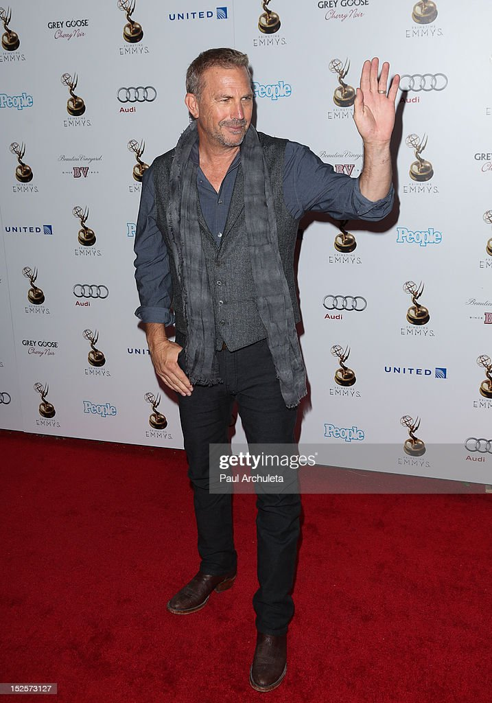 Actor Kevin Costner attends the 64th Primetime Emmy Award Performer Nominee Reception at Spectra by Wolfgang Puck at the Pacific Design Center on...