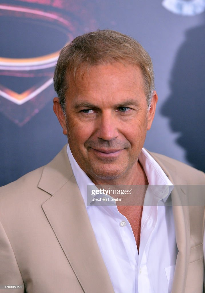 Actor Kevin Costner attends the 'Man Of Steel' world premiere at Alice Tully Hall at Lincoln Center on June 10, 2013 in New York City.