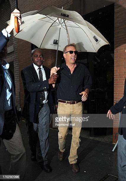 Actor Kevin Costner is seen outside the 'Katie Couric Show' on June 10 2013 in New York City